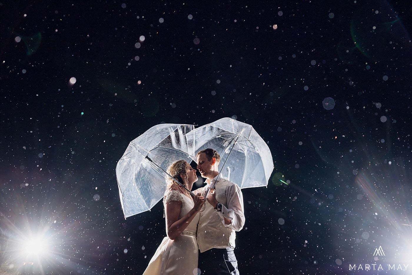 Herefordshire wedding photographers Brinsop Court rain