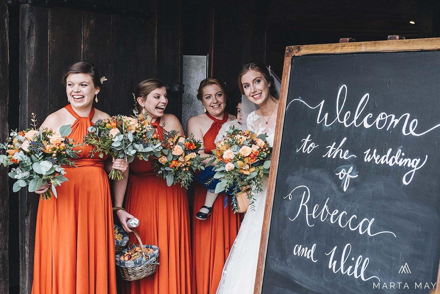 Herefordshire wedding photographers Brinsop Court autumn