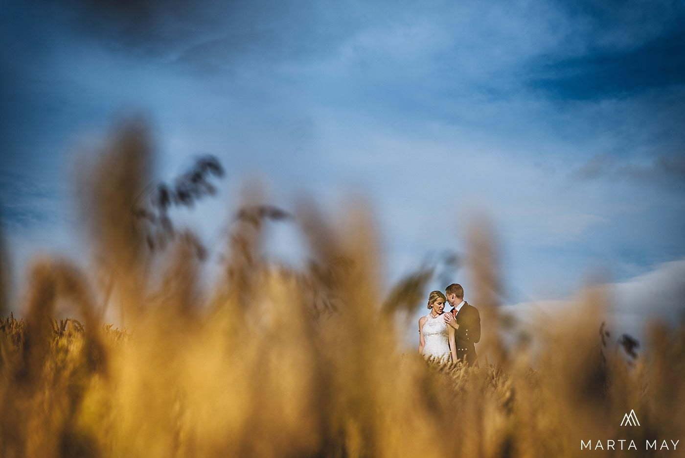 Herefordshire wedding photographers Brinsop Court fields