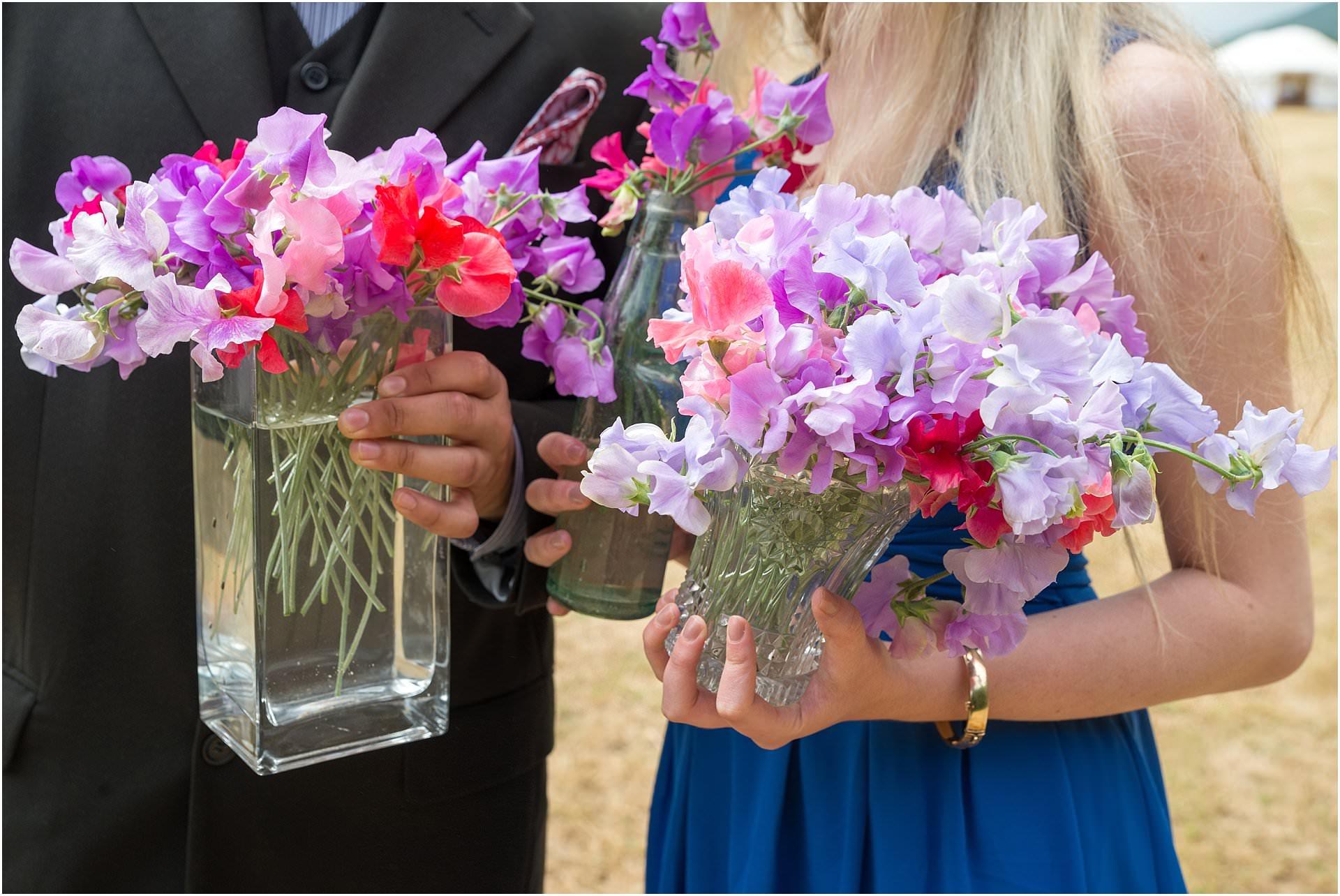 natural wedding flowers sweetpea