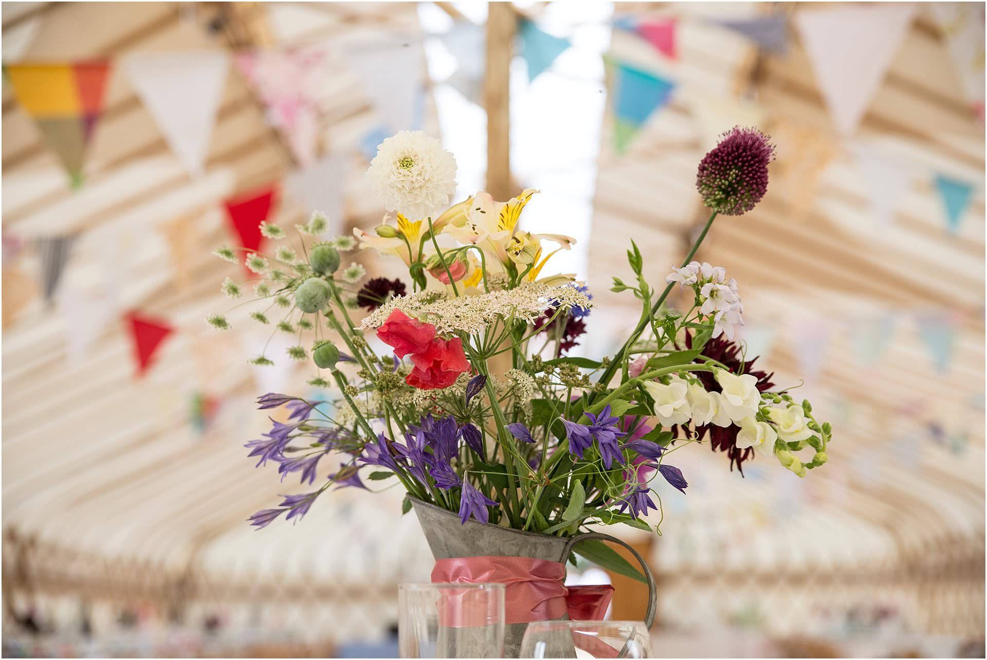 wedding with wild flowers