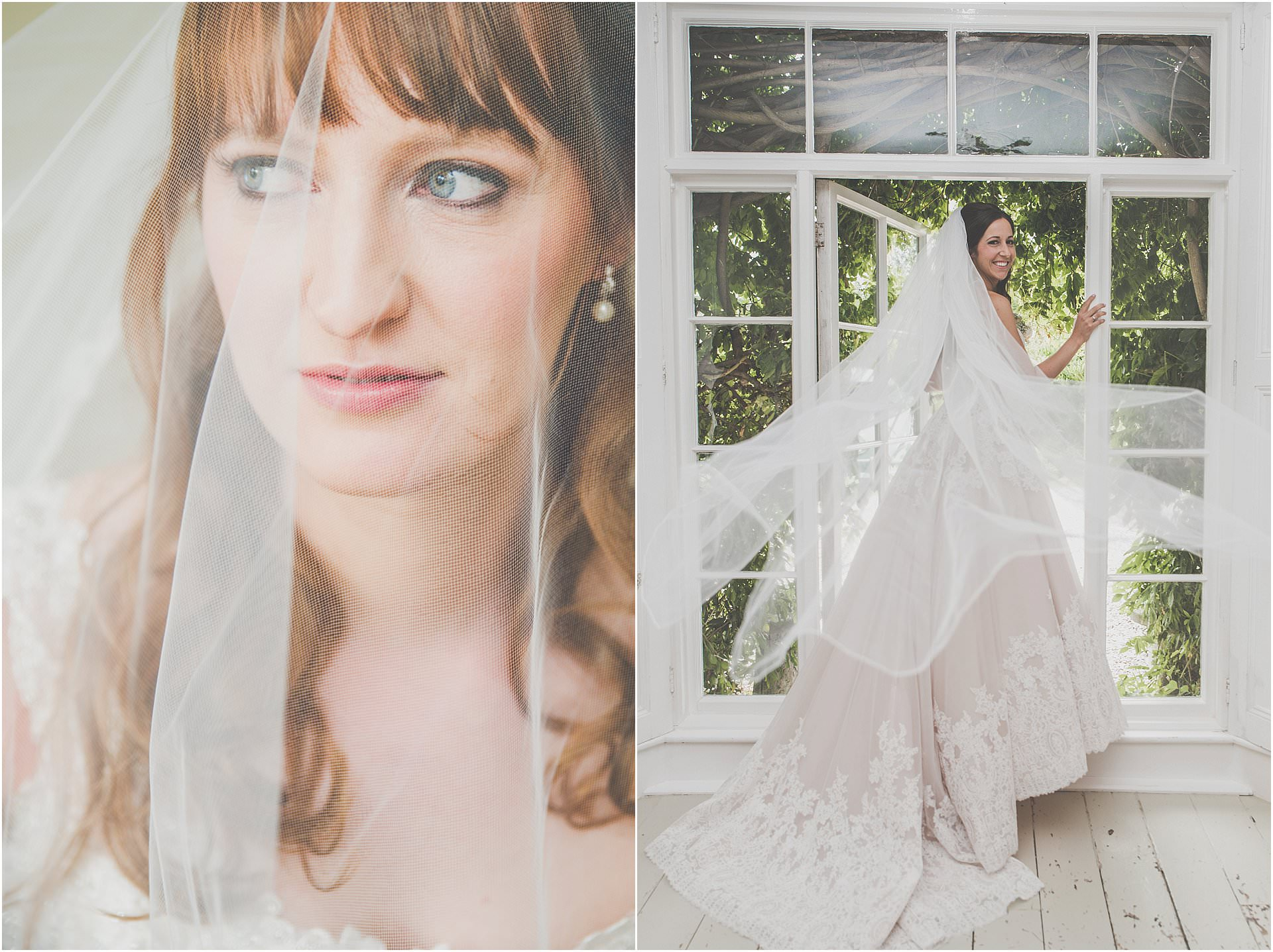 Long Veils are beautiful Lyde Court Wedding