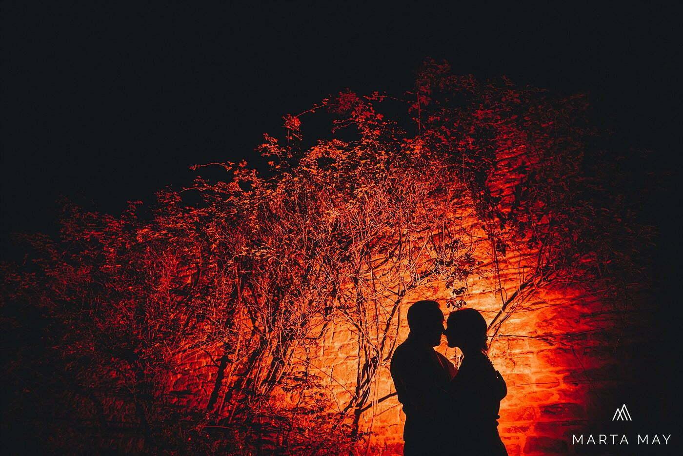 winter wedding photography OCF