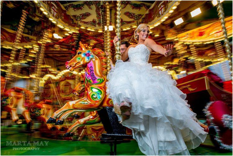 christmas market bride