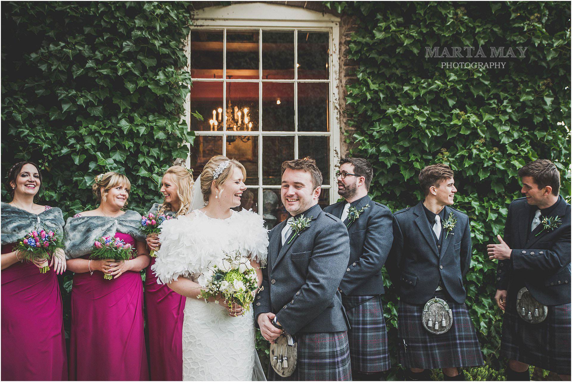 Scottish English wedding at Dewsall Court Herefordshire