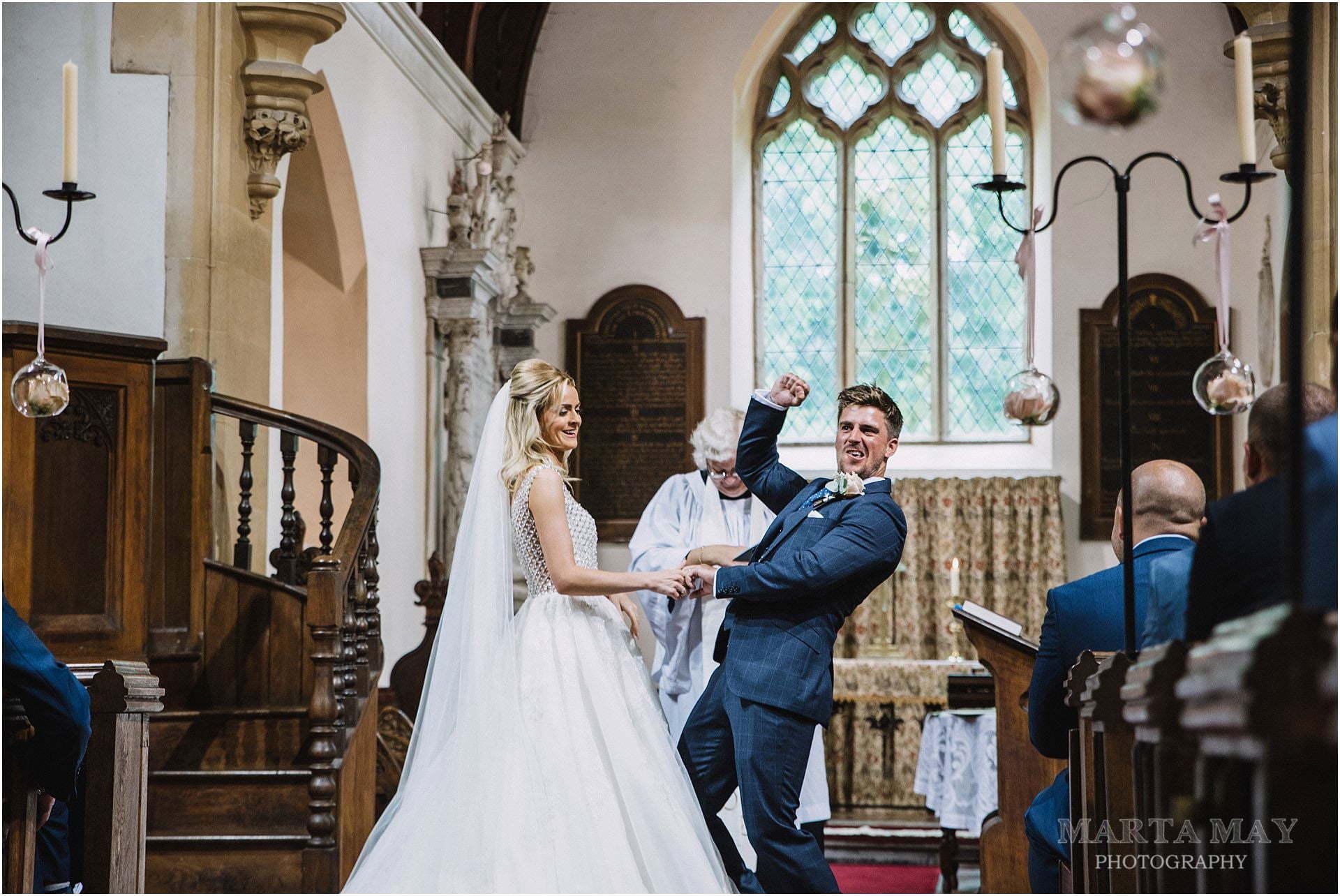 Birtsmorton Court wedding ceremony photos