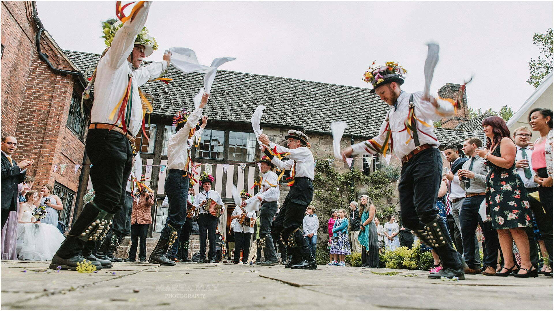 morris dancing wedding photography
