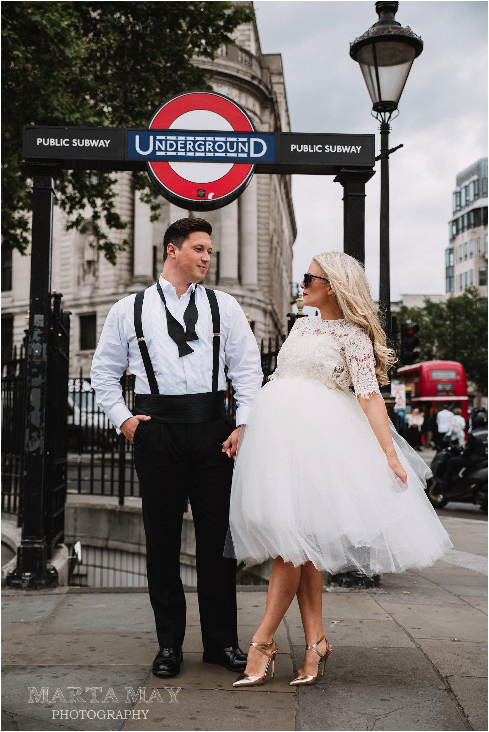 London wedding fun glamour