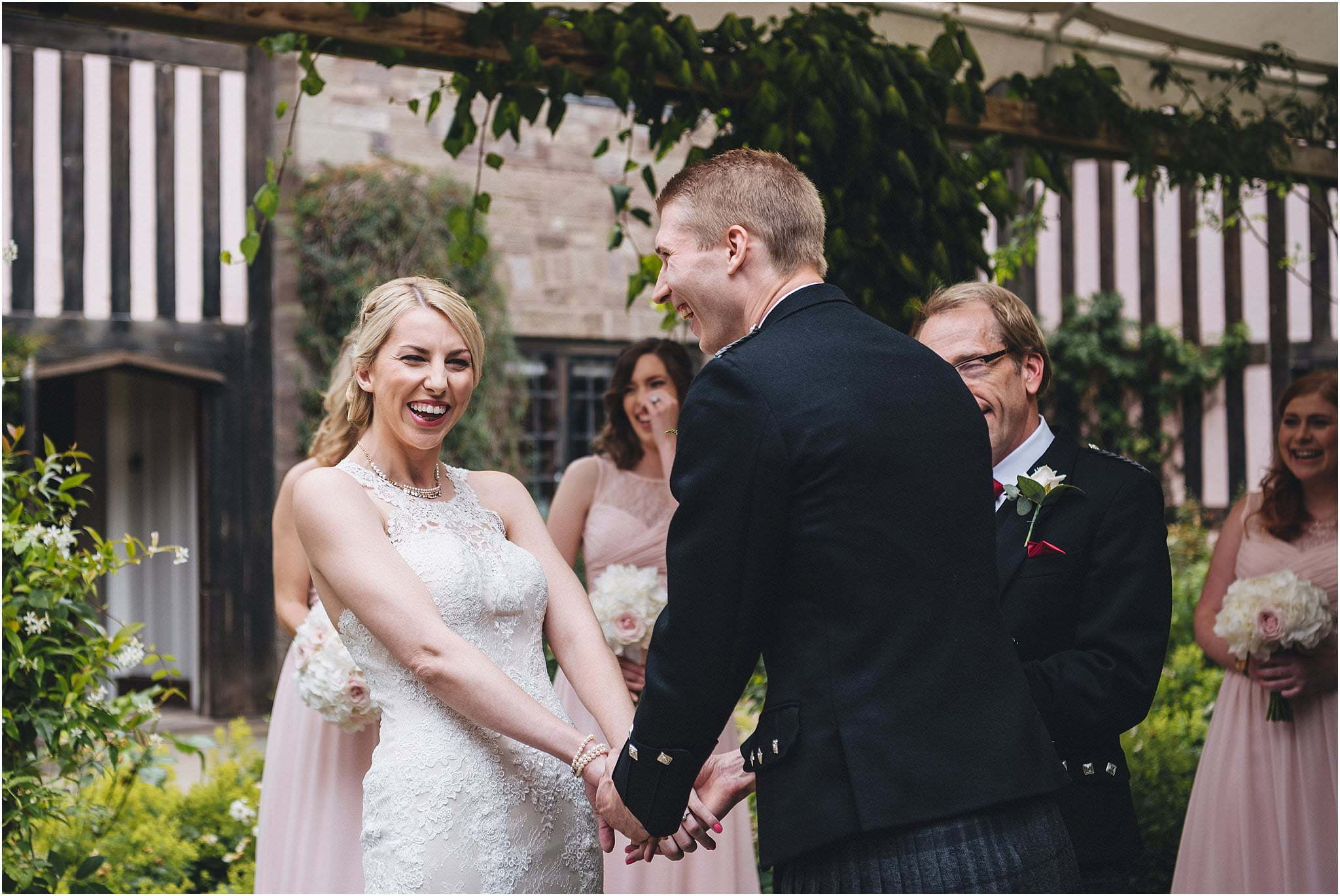 Brinsop courtyard wedding ceremony