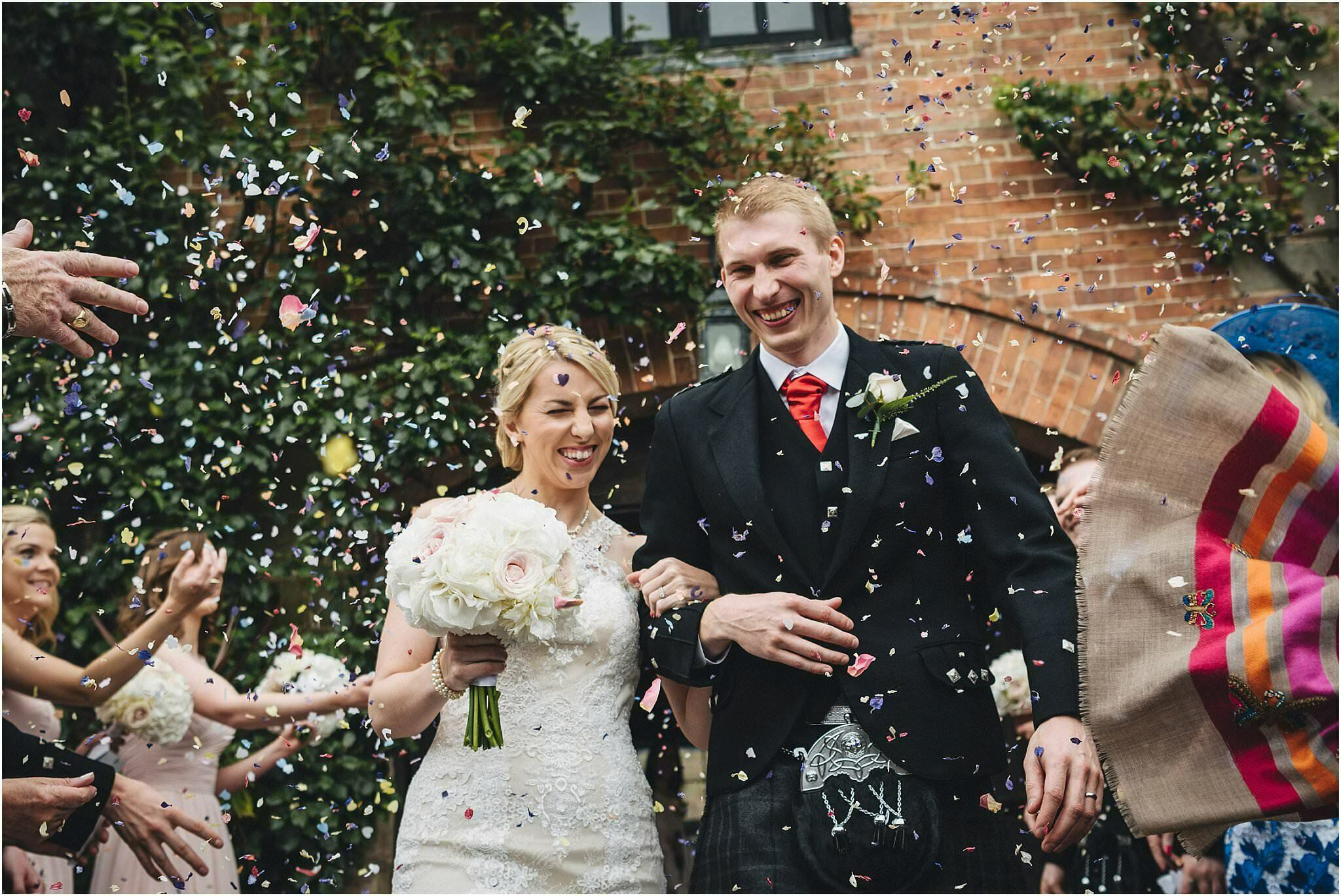 Brinsop wedding confetti