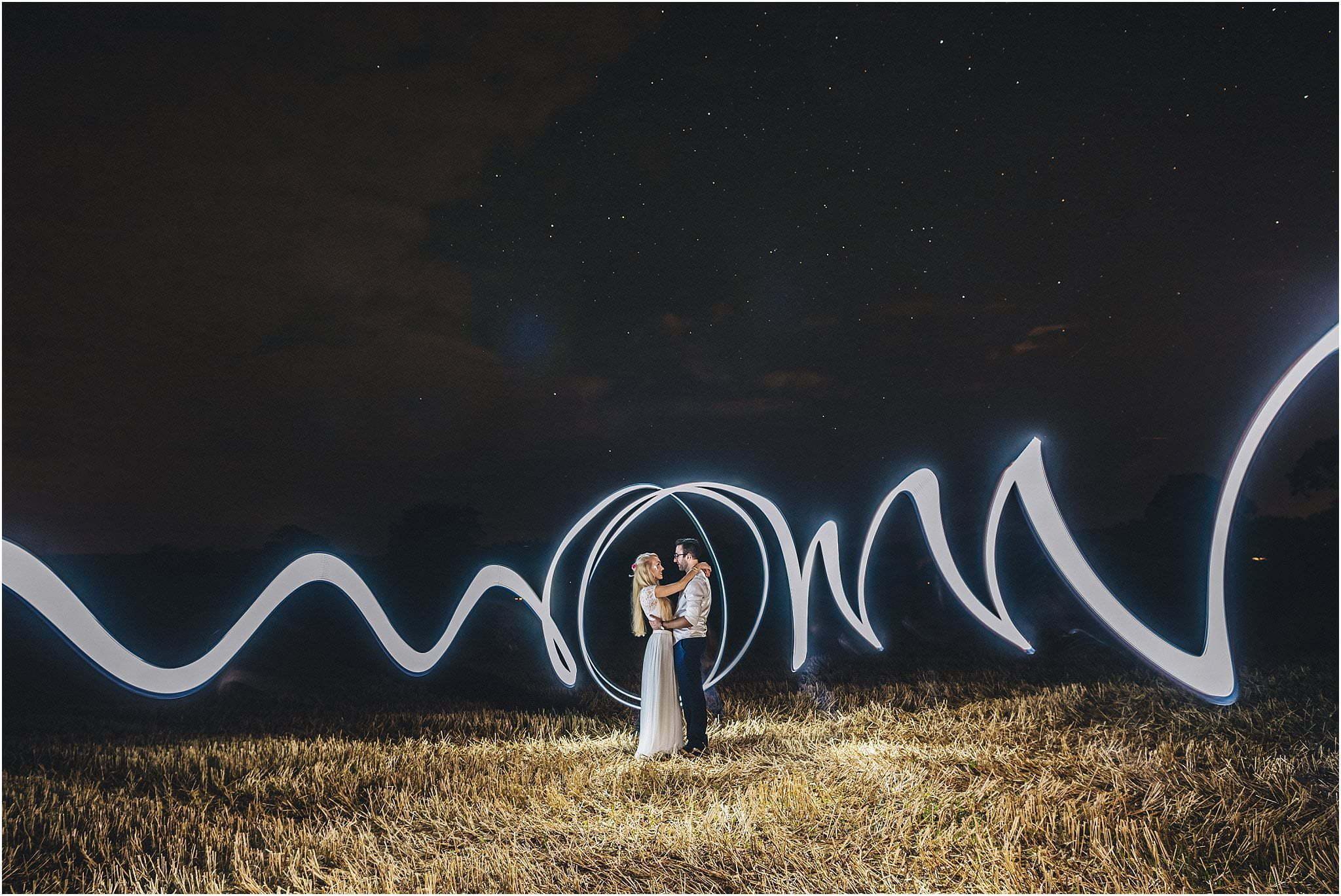 light painting wedding photography
