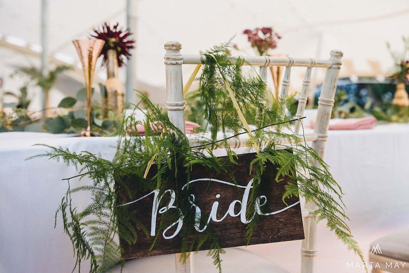 Romantic Brinsop Court wedding calligraphy