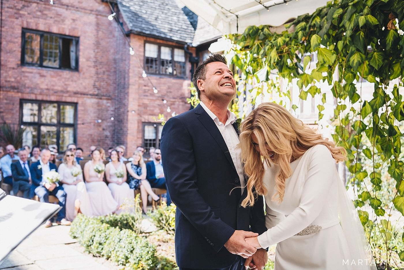 brinsop courtyard wedding ceremony couple