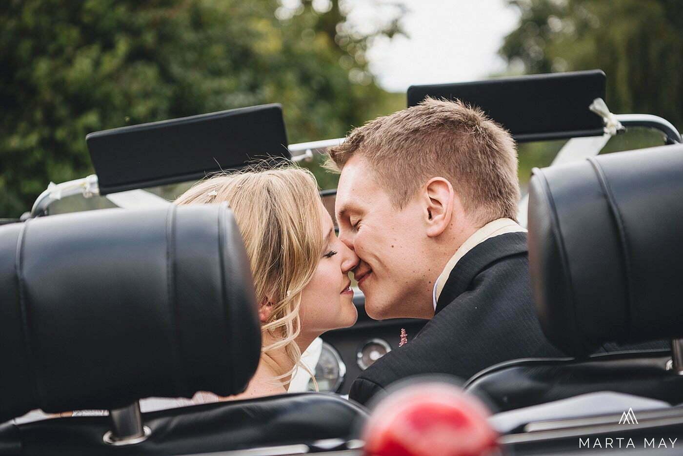 Romantic Brinsop Court wedding car