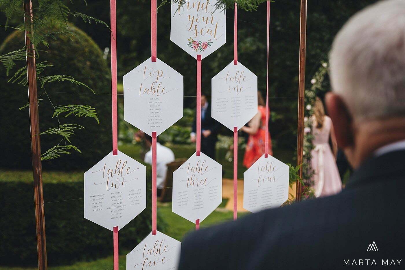 Romantic Brinsop Court wedding guest list