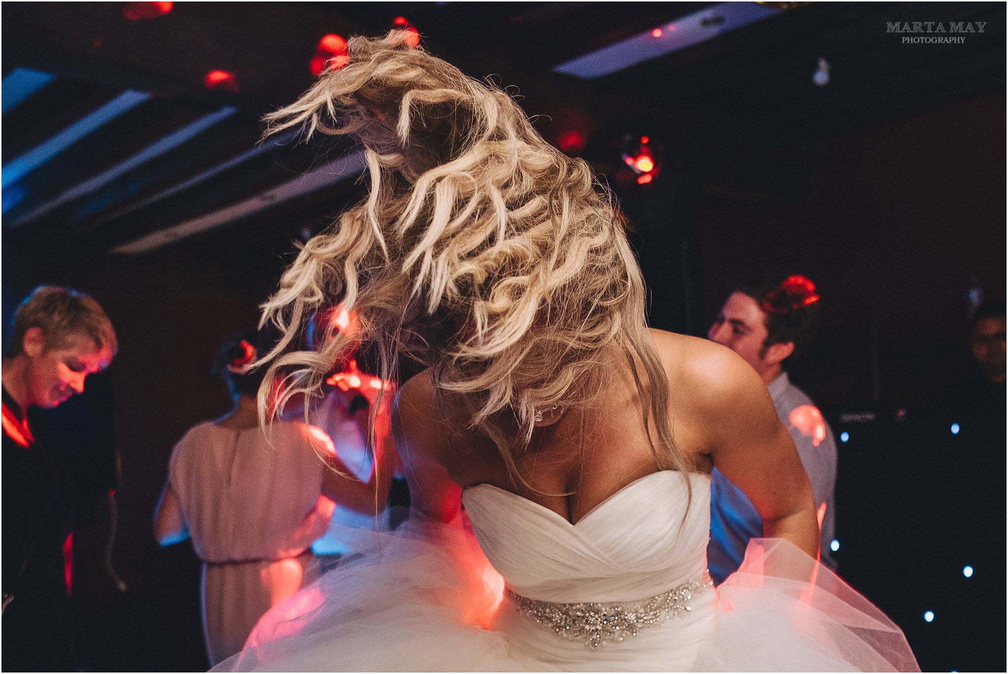 bride dancing at Brinsop