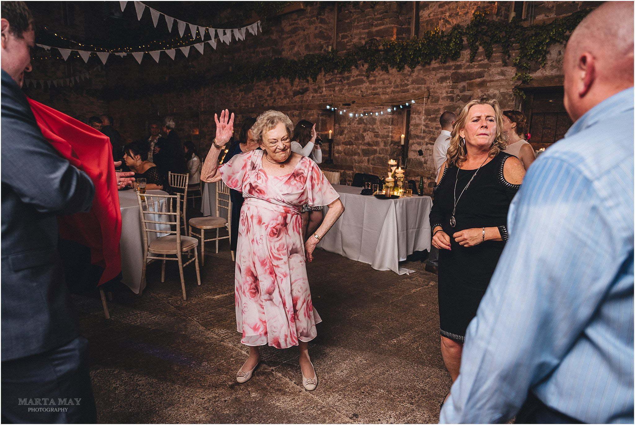 grandma dancing Lyde Court