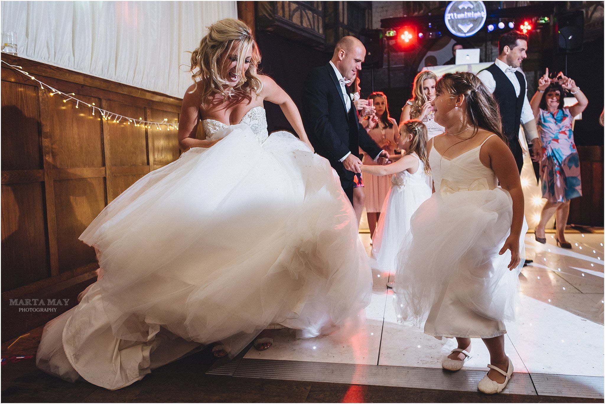 bride dancing How Caple Court