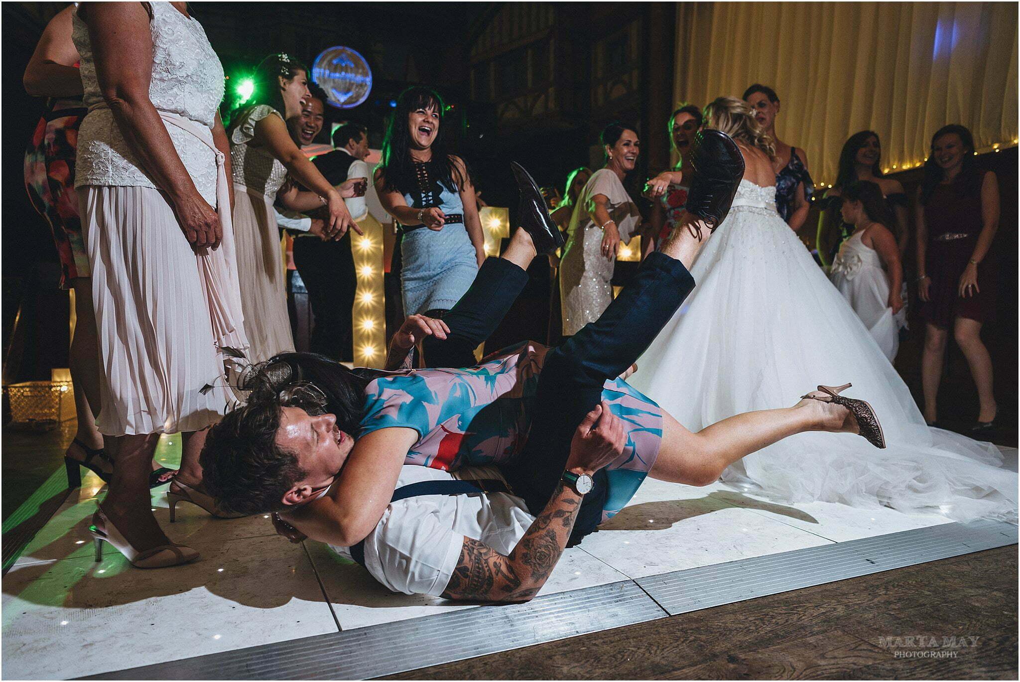 crazy dance floor How Caple Court