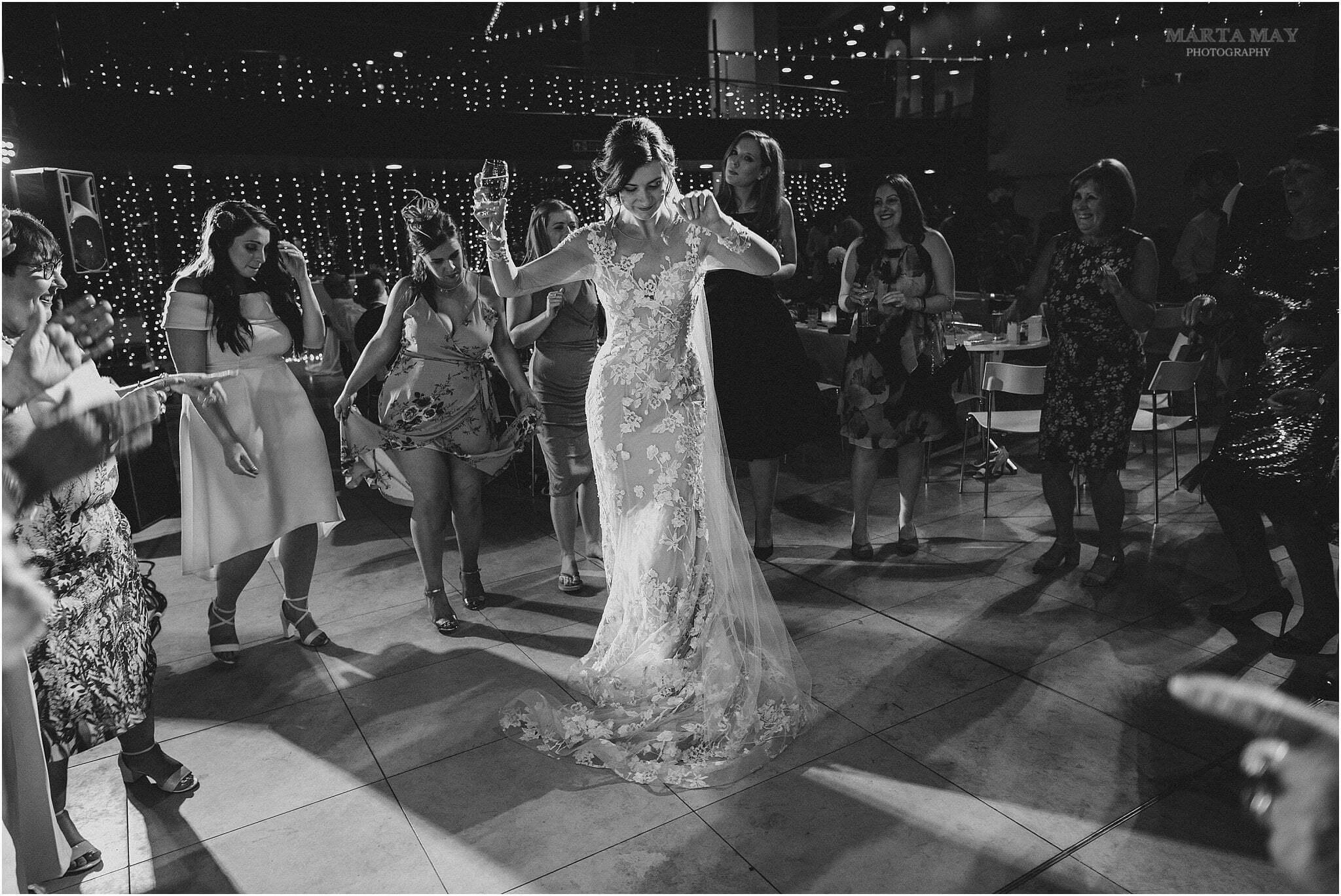 bride dancing Cardiff