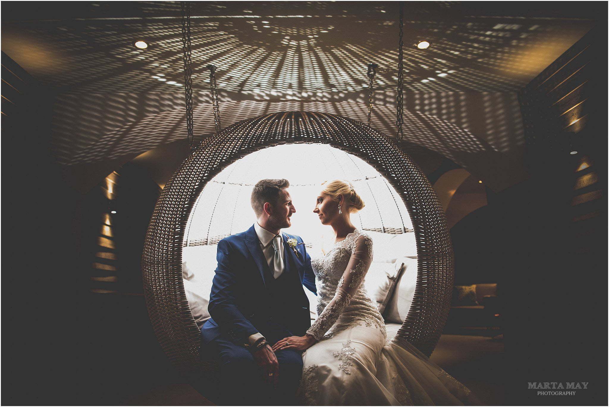 creative portrait bride groom