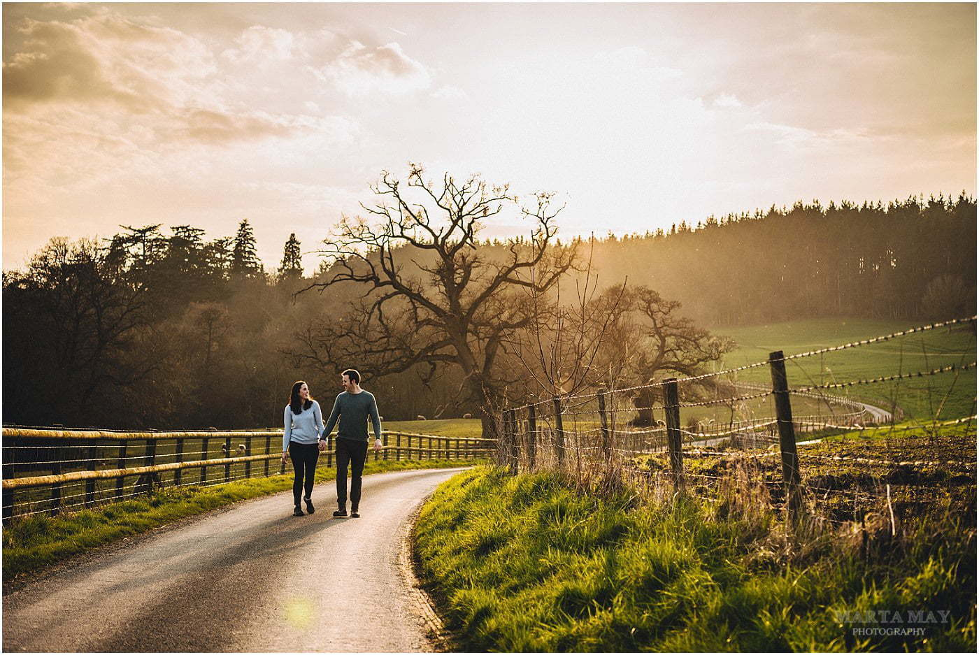 spring engagement session Herefordshire Cotswolds