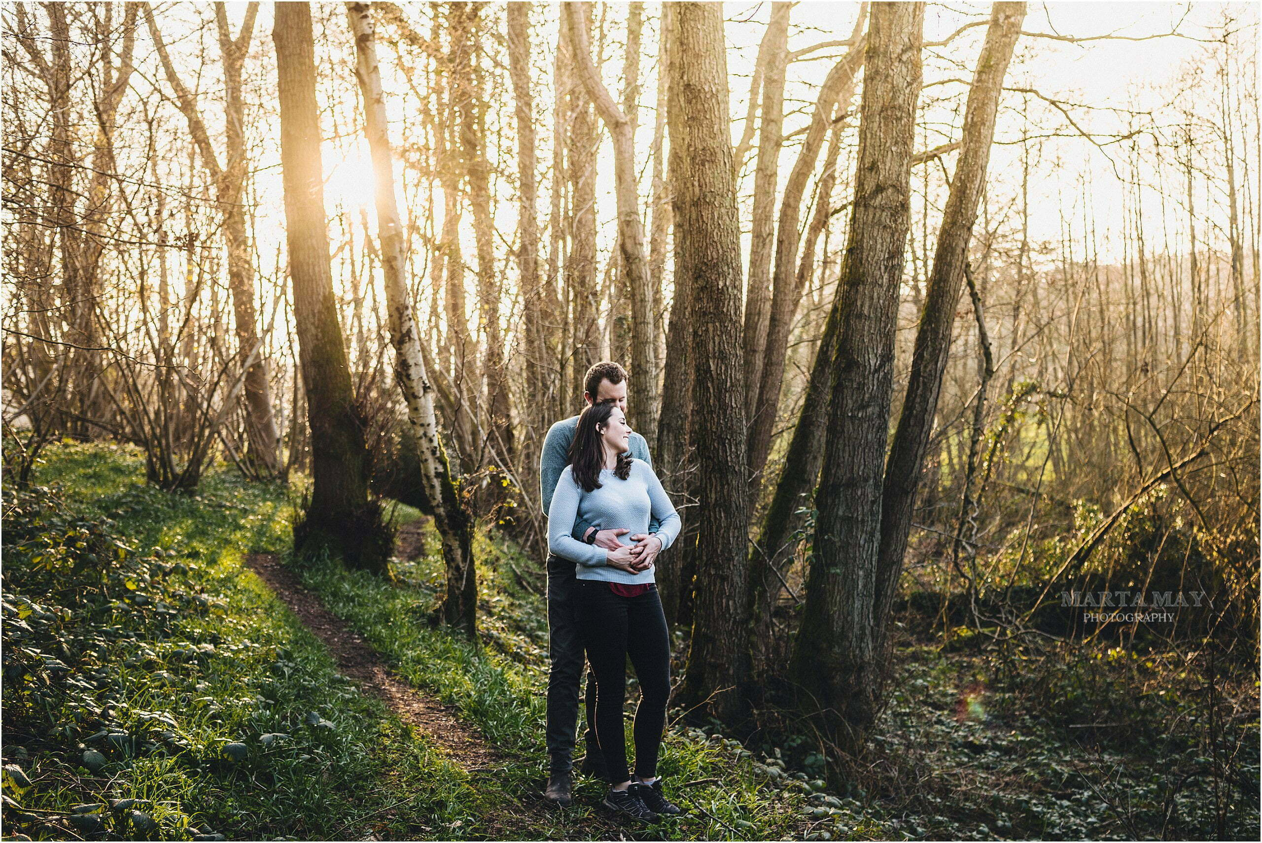 spring engagement session Herefordshire