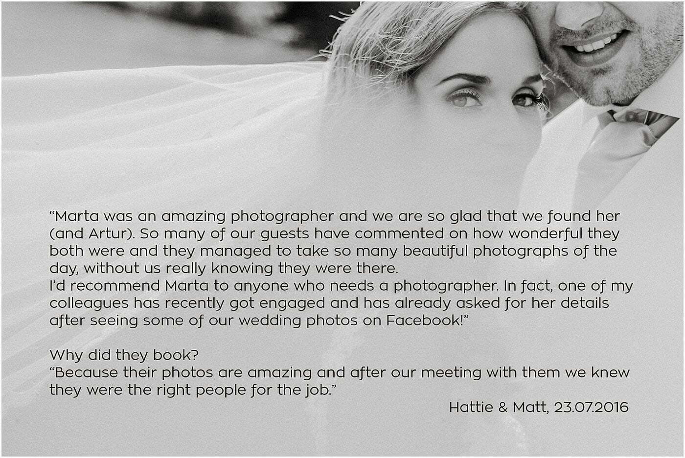 Marta May Photography testimonials