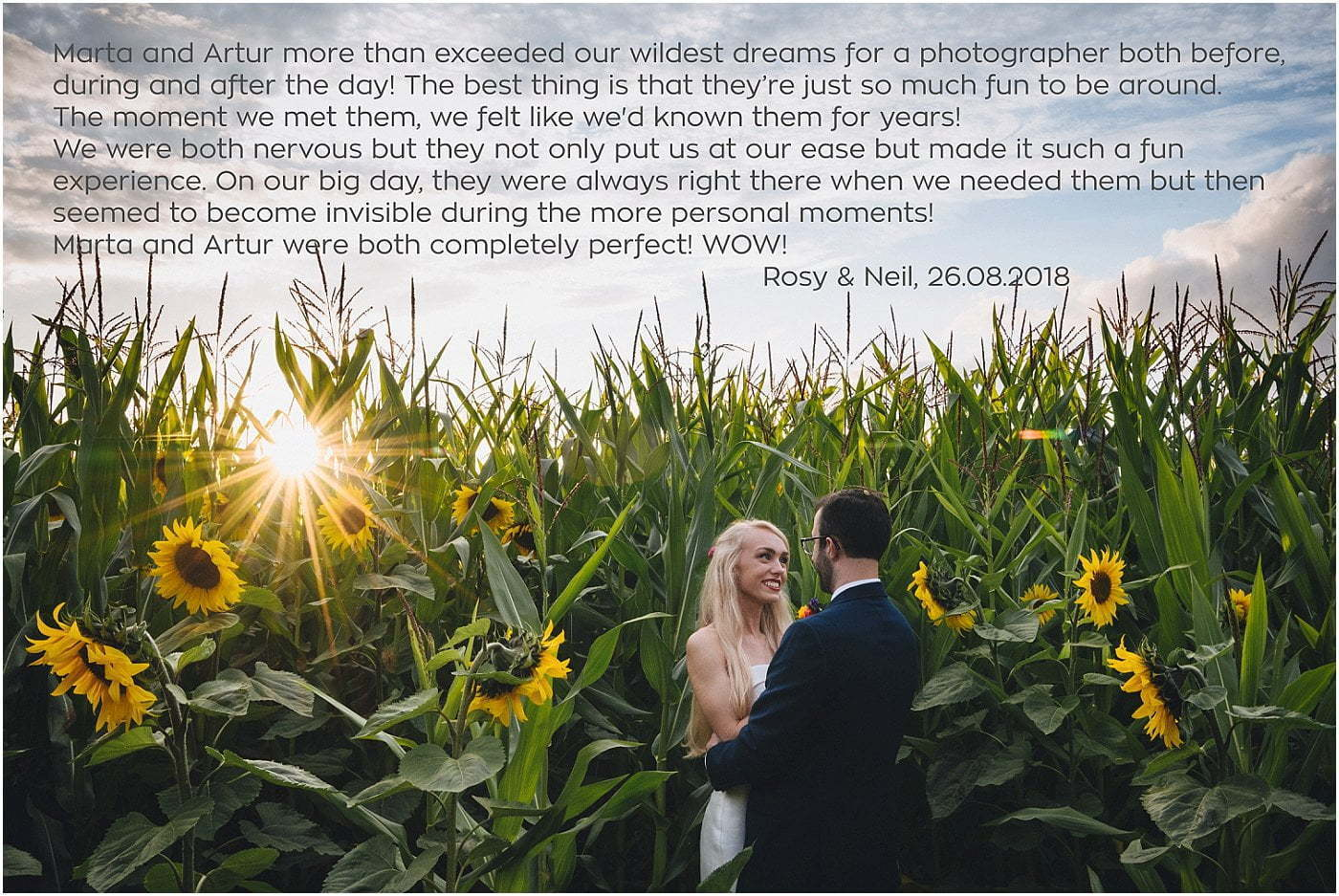 Marta May Photography testimonials 2017