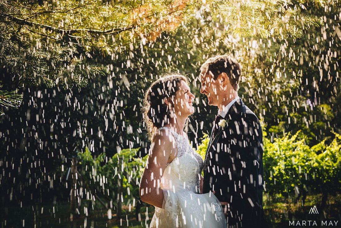 rainy wedding day Herefordshire
