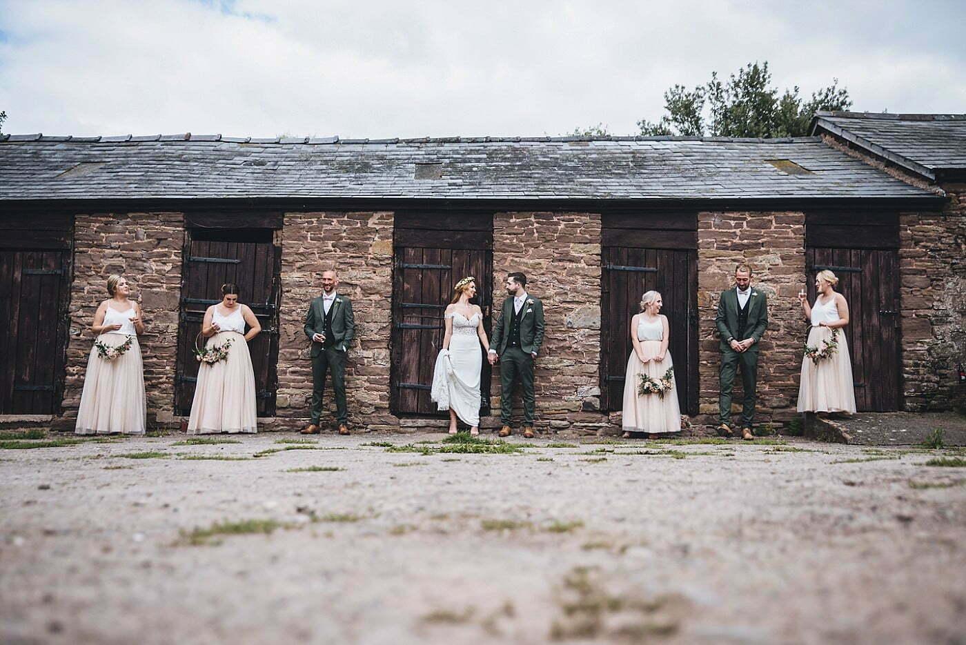 bridesmaids groomsmen picture