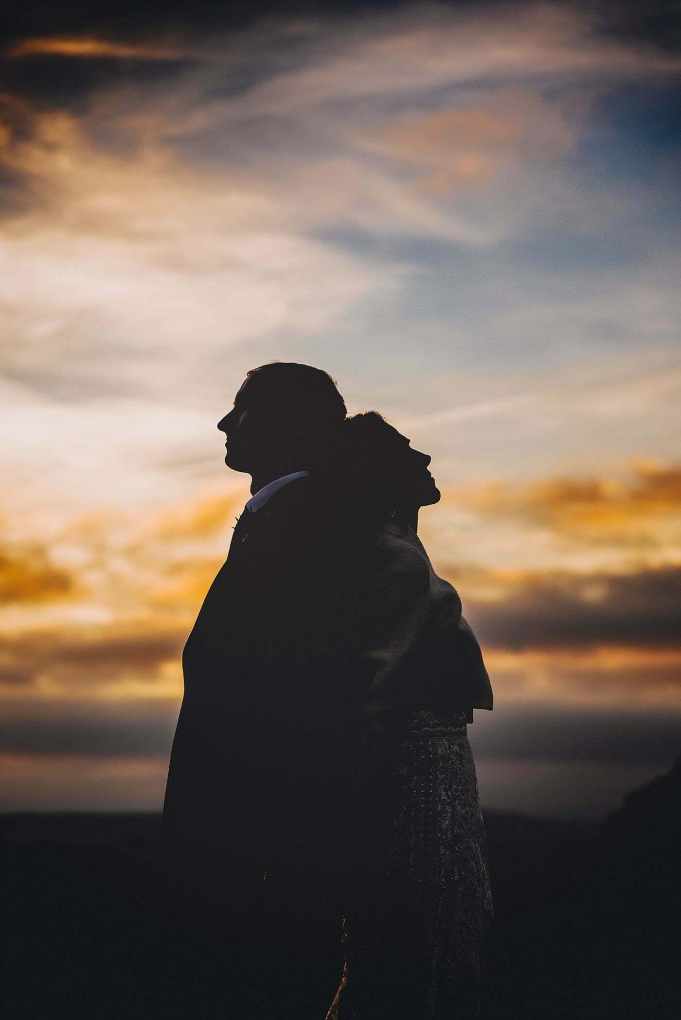 dewsall court couple sunset