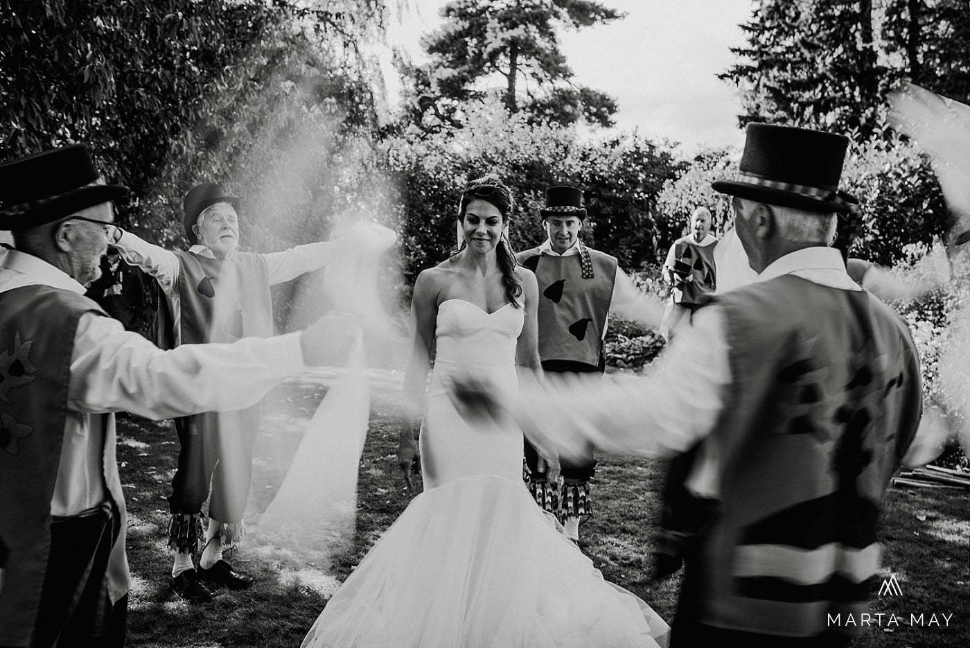 Morris dancing wedding