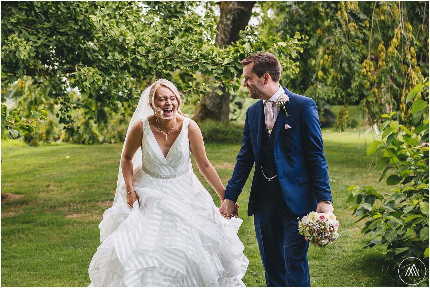 bride and groom shoot Birtsmorton