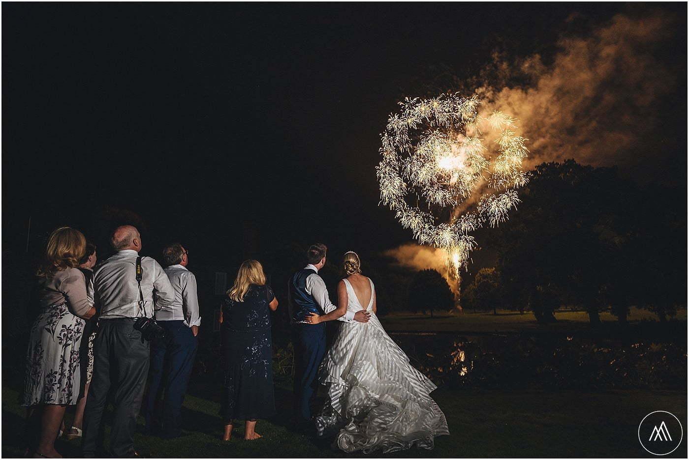fireworks at Birtsmorton Court