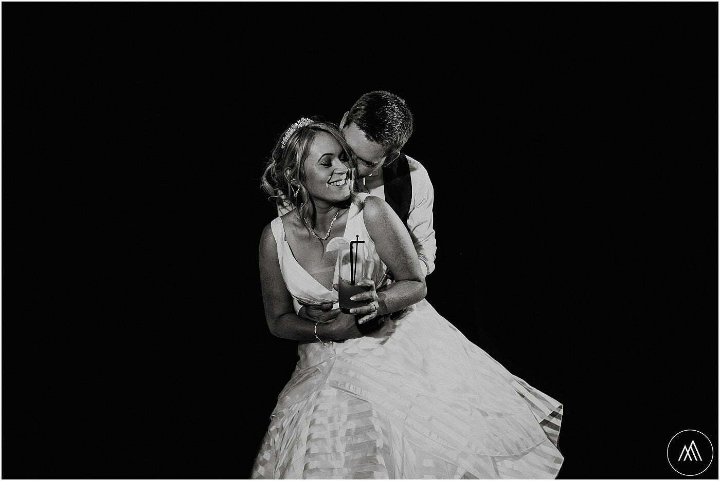 married couple dancing at Birtsmorton
