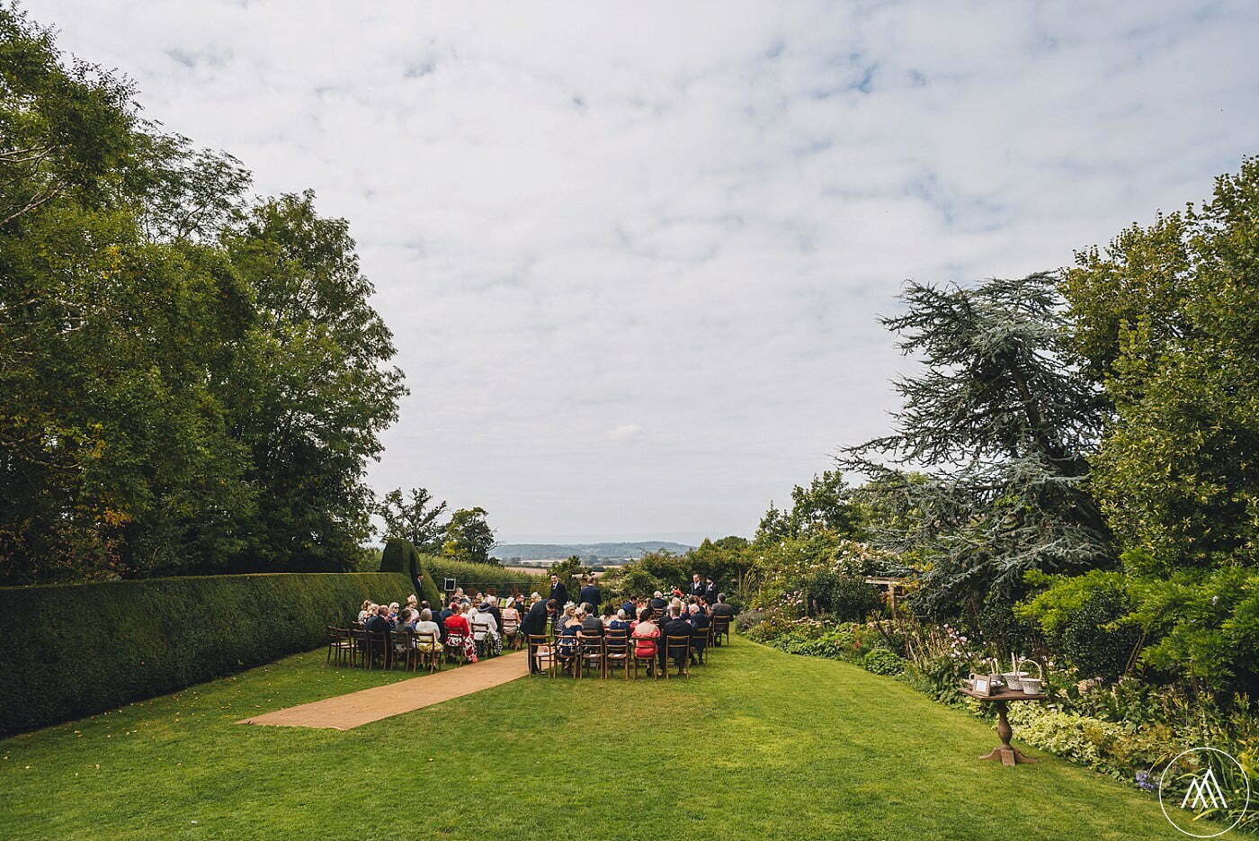 outdoor ceremony Dewsall
