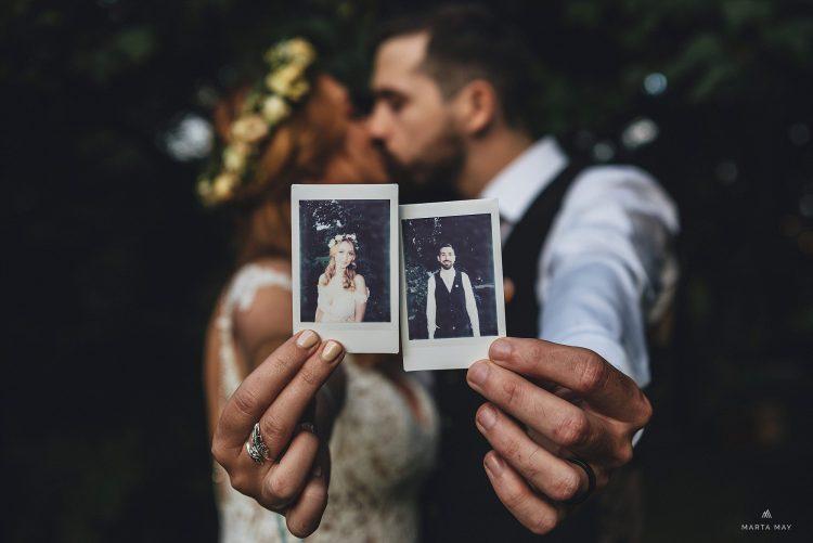 Boho bride Dewsall Court photos