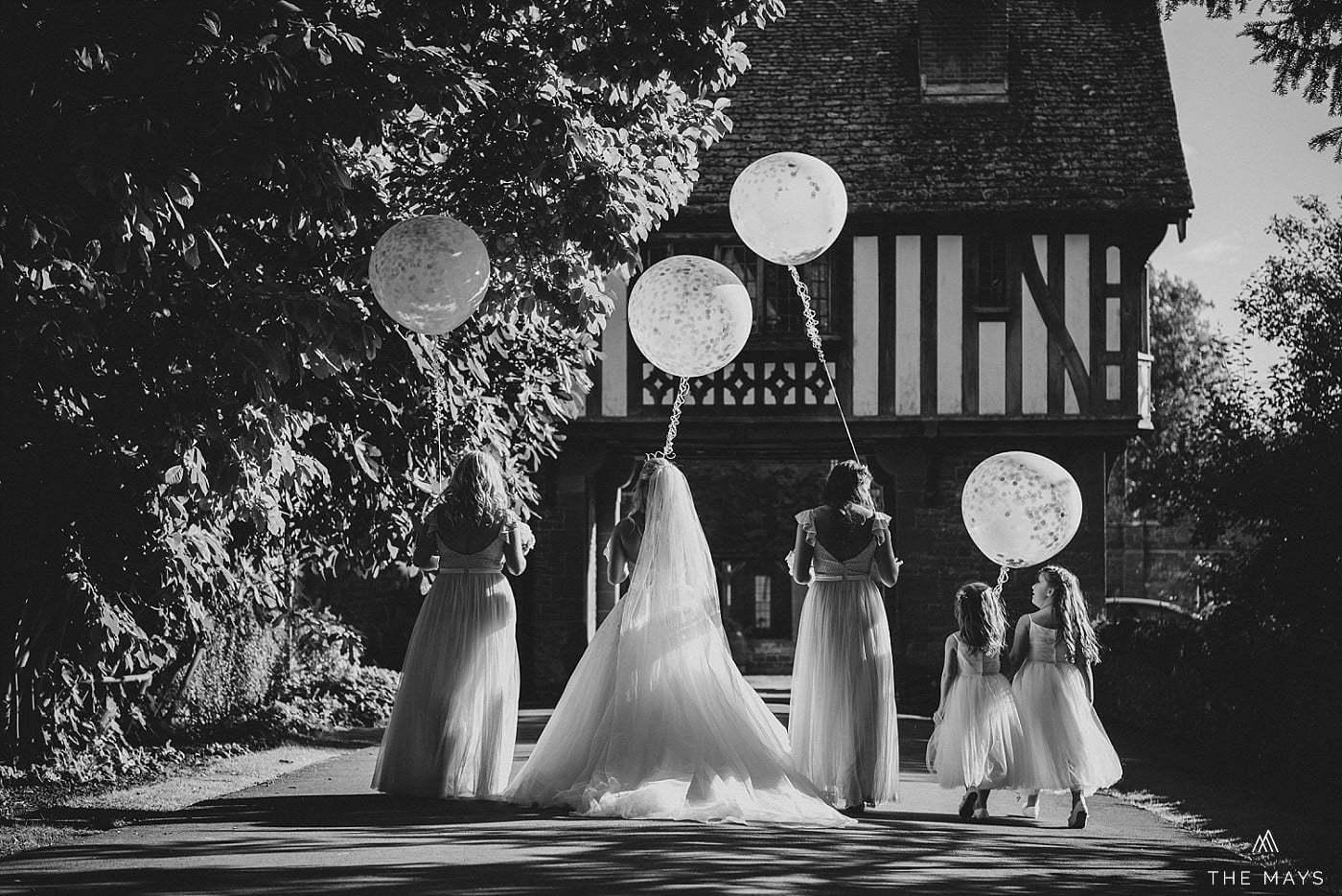 bride and bridesmaids How Caple