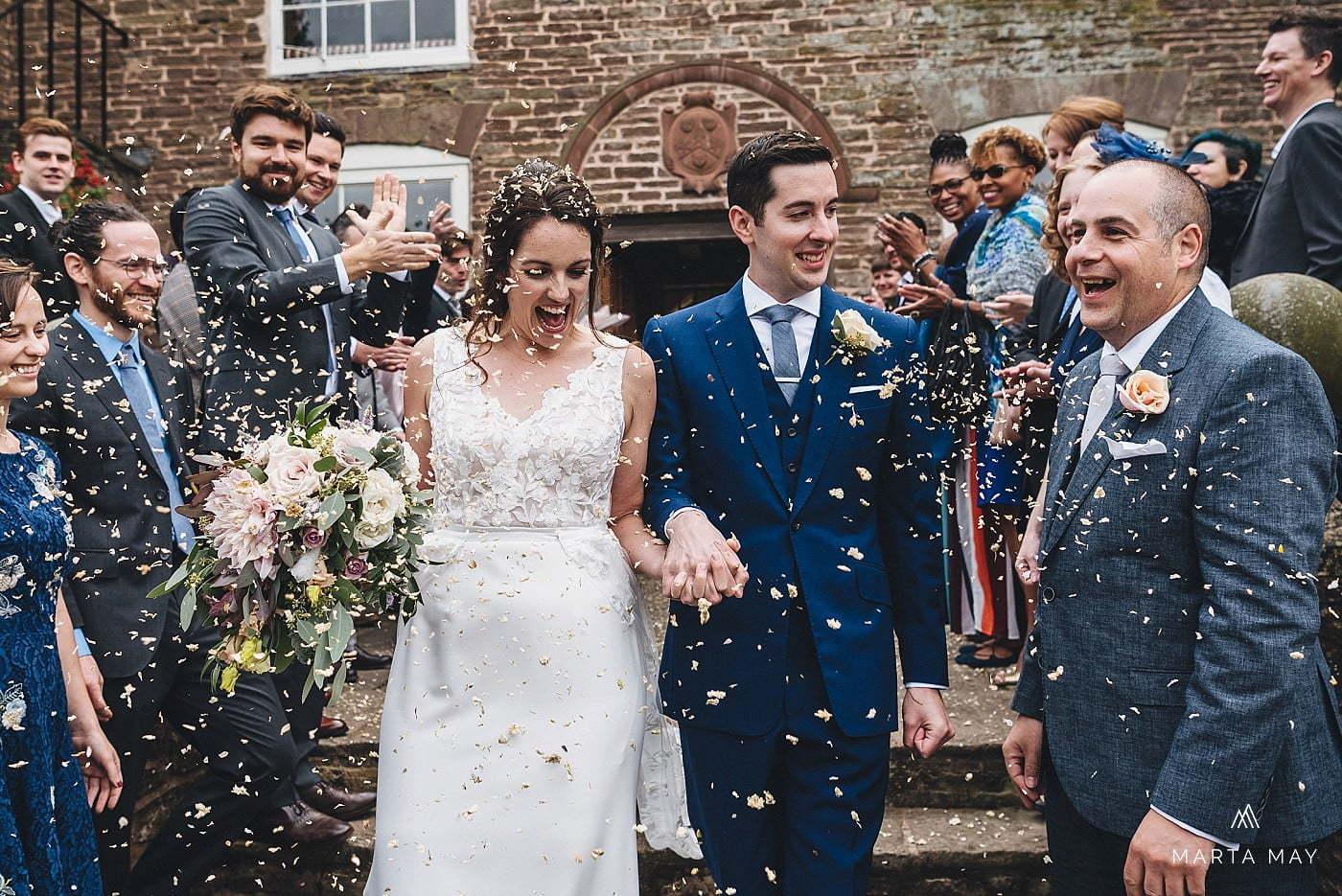 English American wedding Dewsall Court