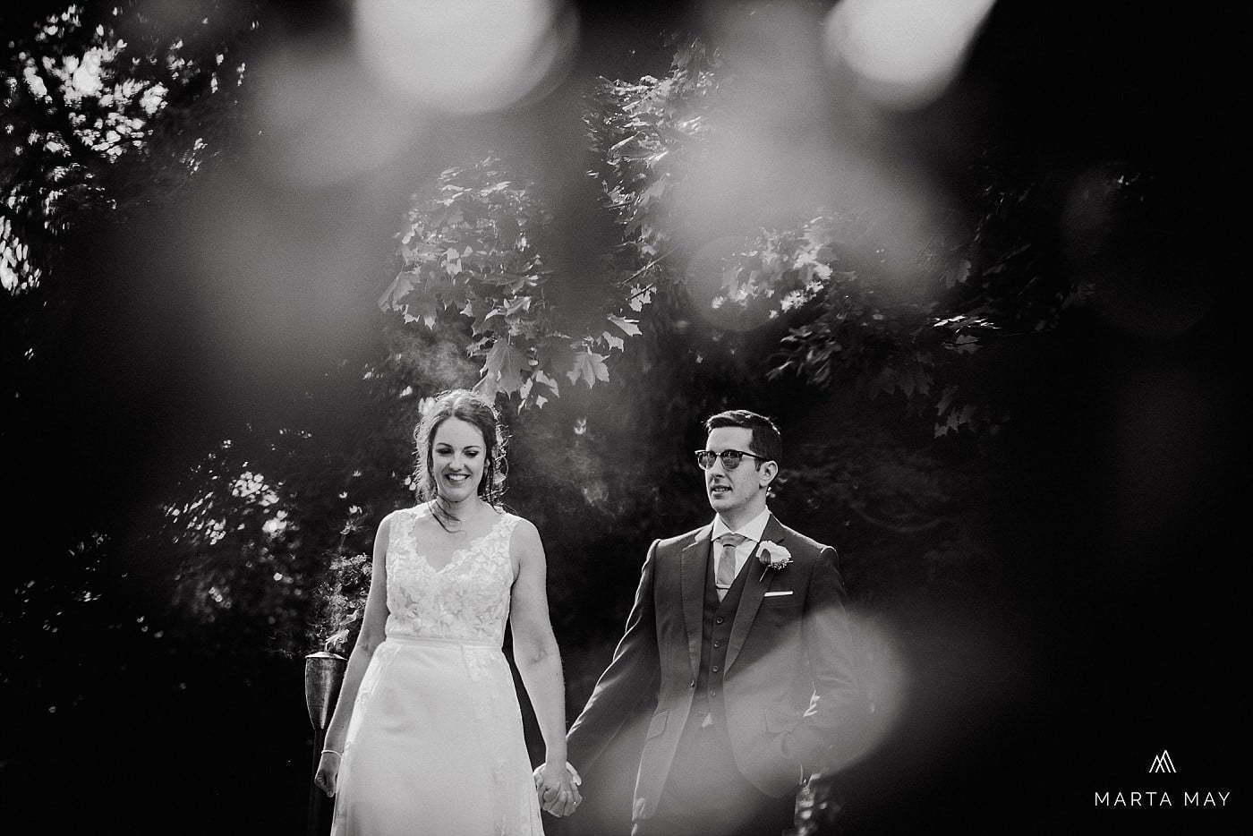 English American wedding at Dewsall Court