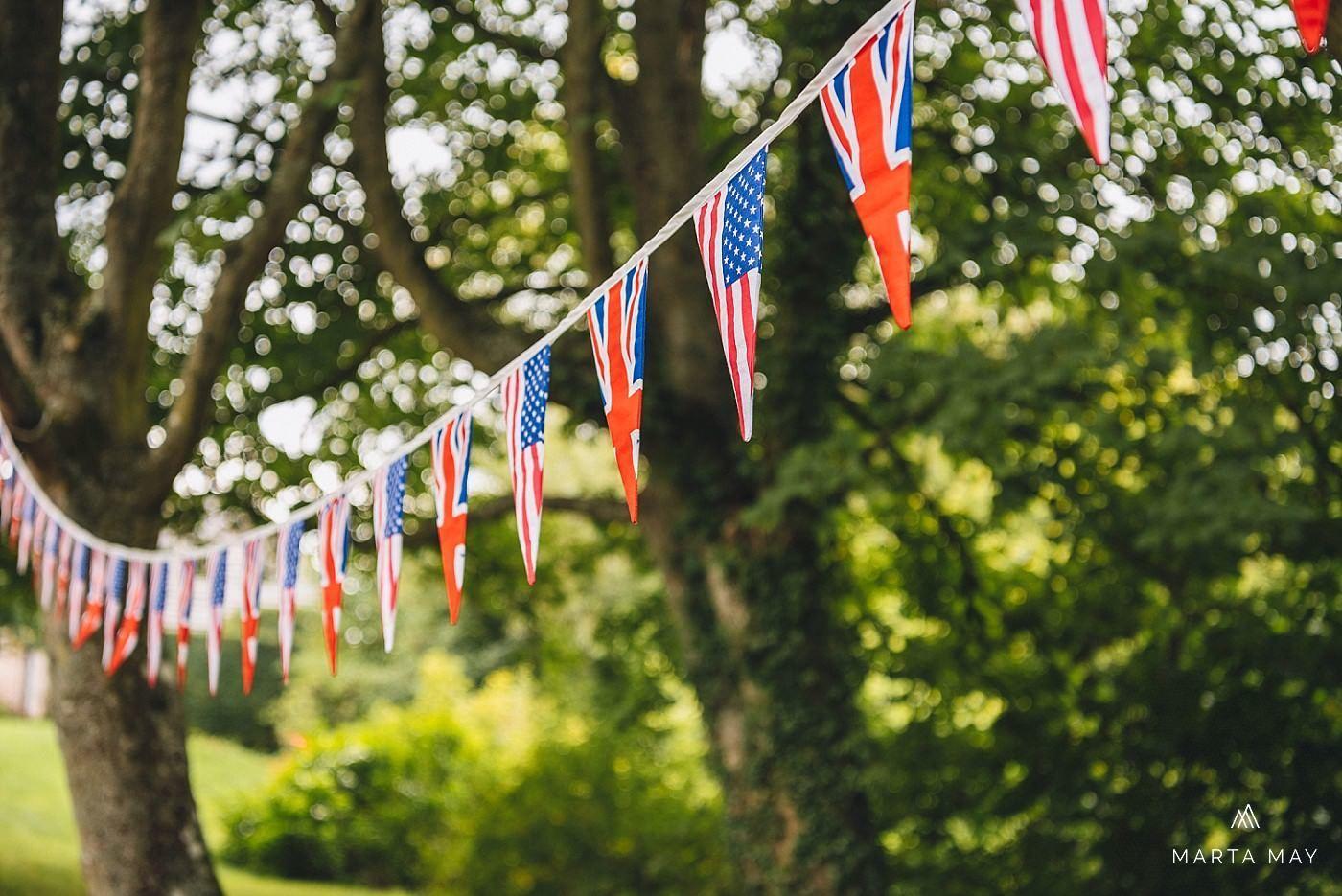 English American wedding