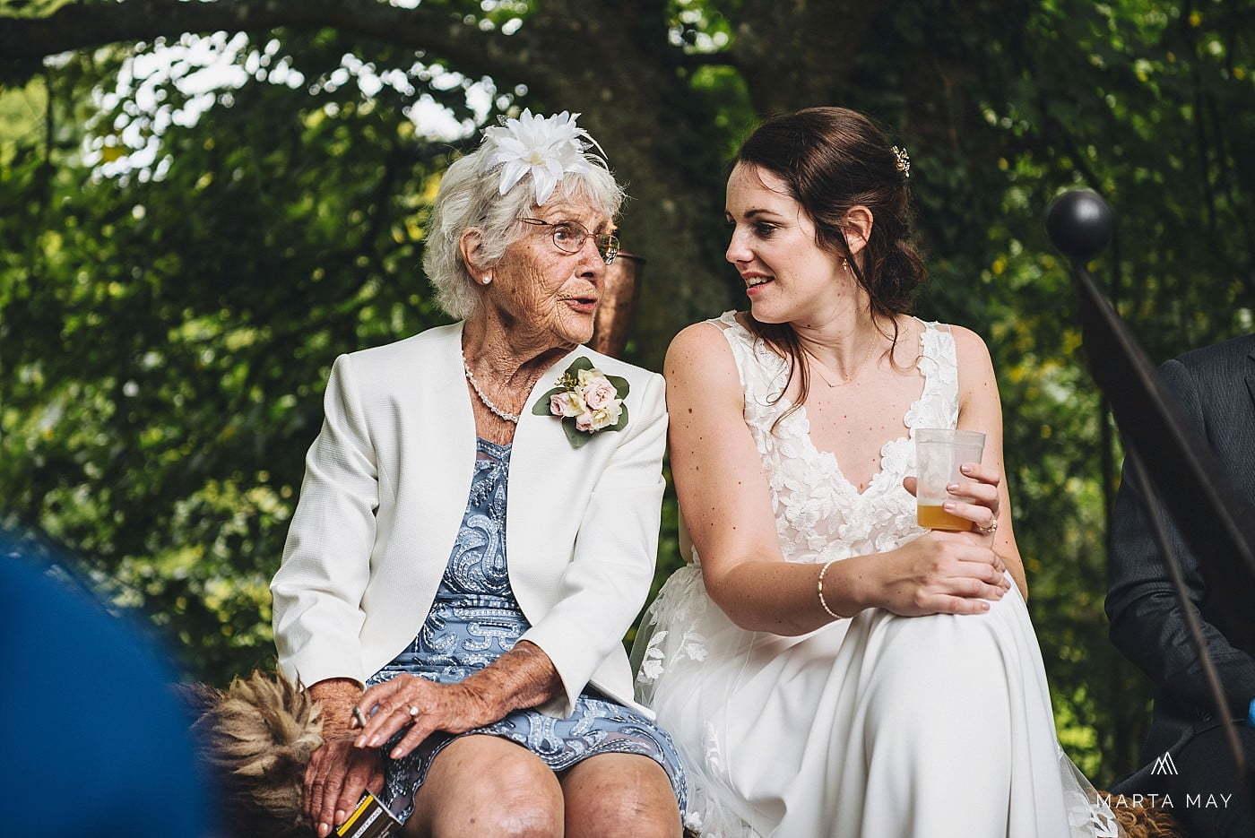 Bride and grandma Dewsall Court wedding
