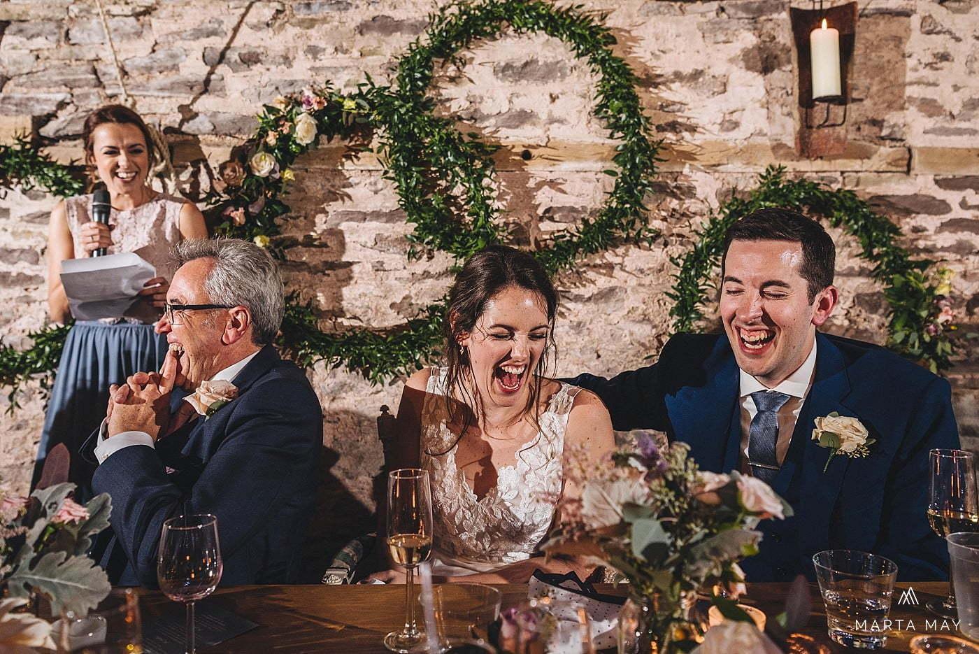 English American wedding speeches