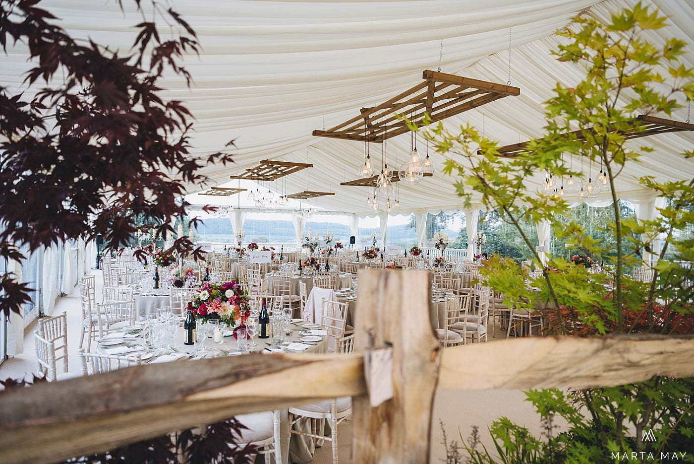 Herefordshire marquee wedding apples