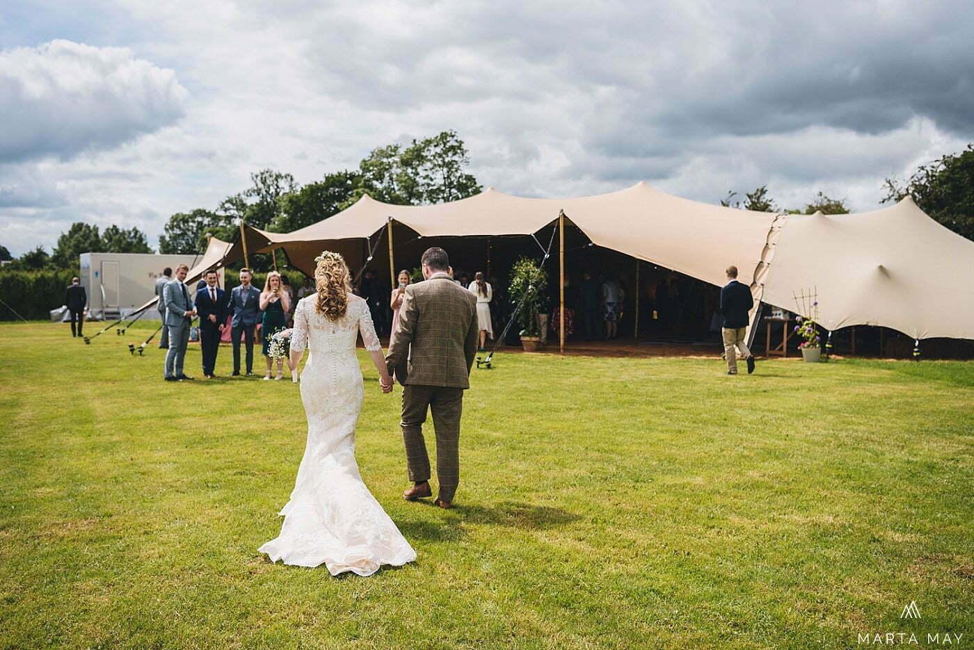 stretch tent tipi wedding Herefordshire