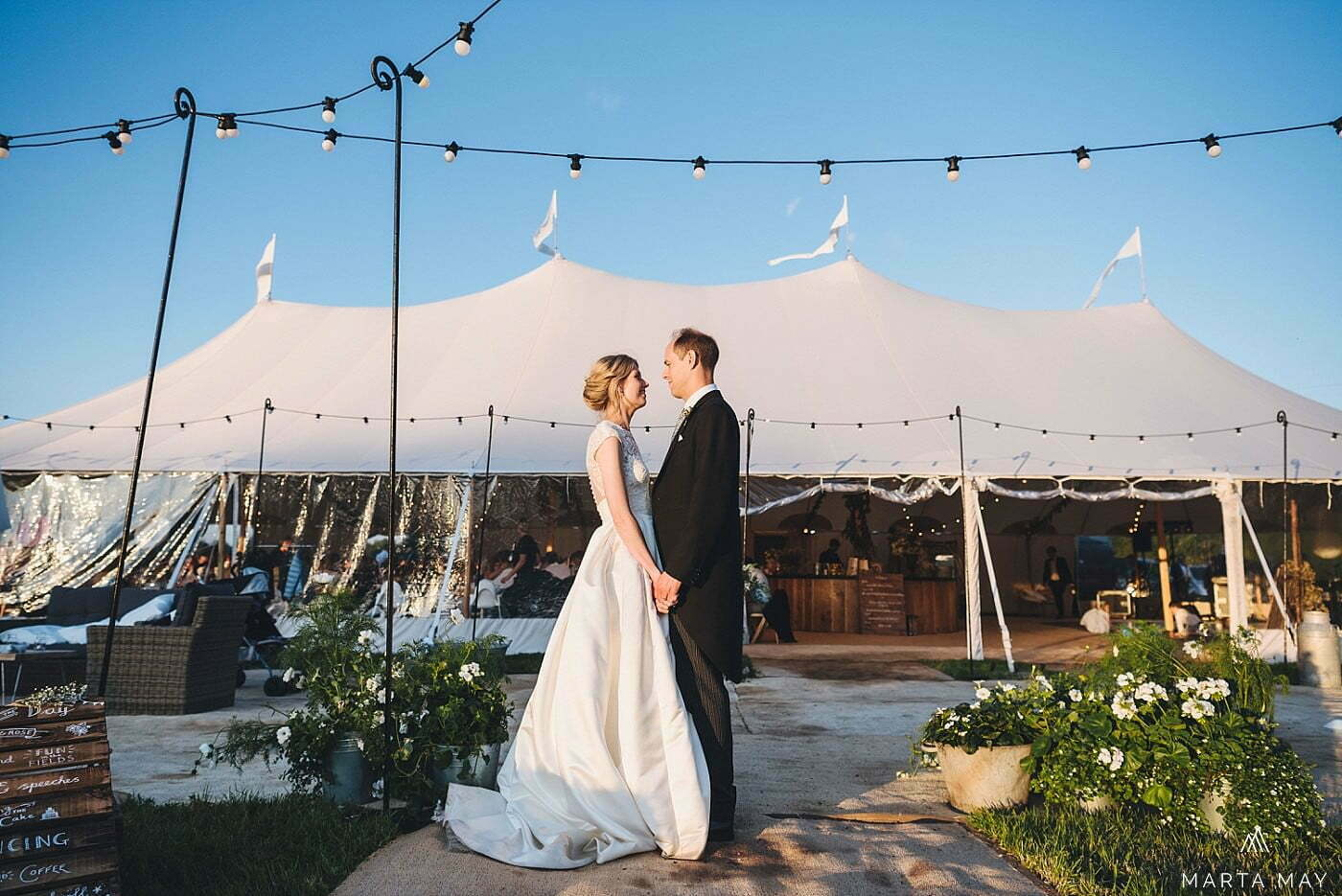 marquee wedding countryside