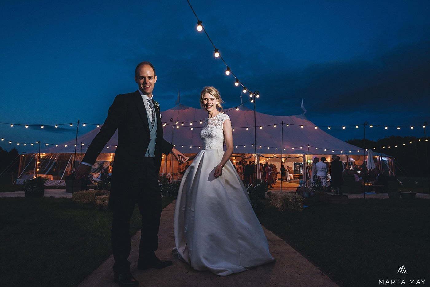 marquee wedding twilight