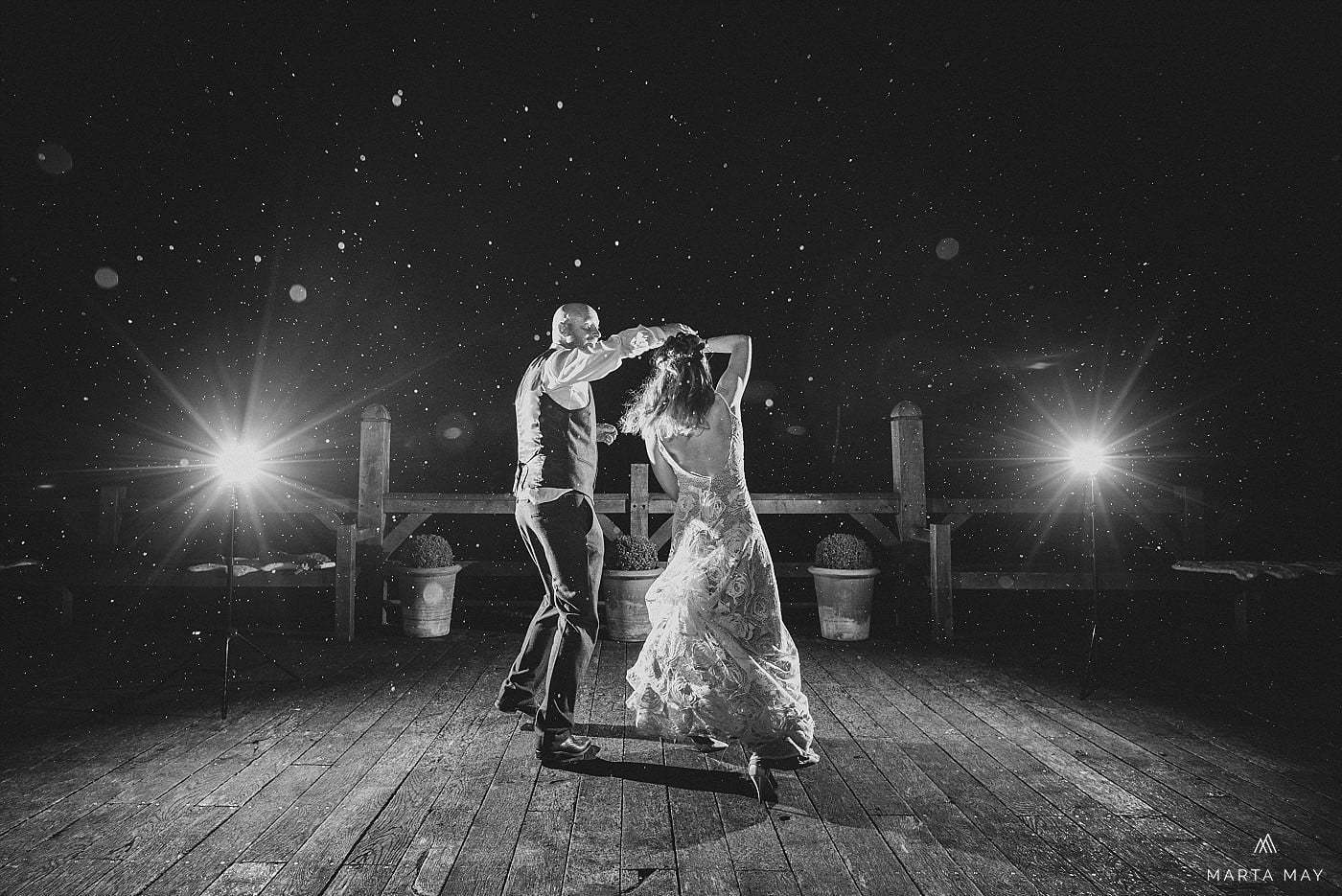 just married at Cripps Barn