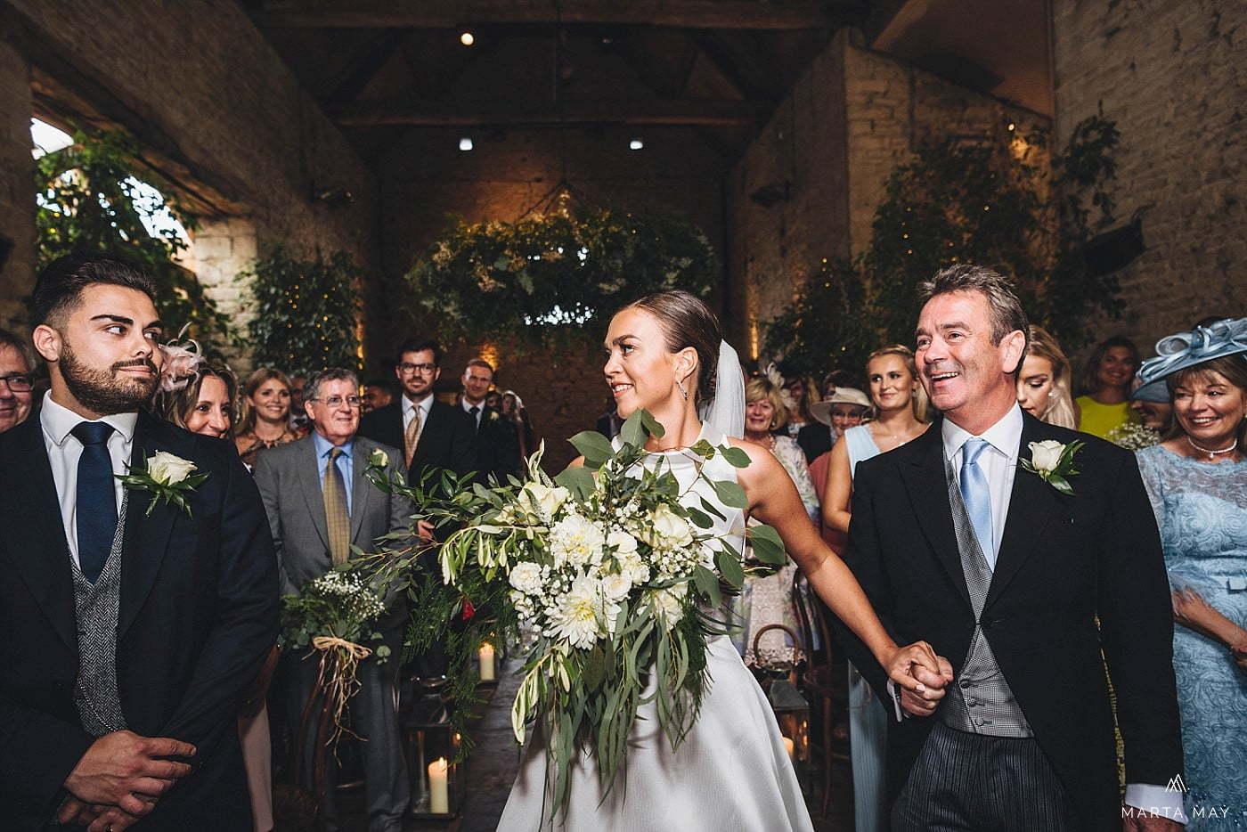 wedding ceremony Cripps Barn